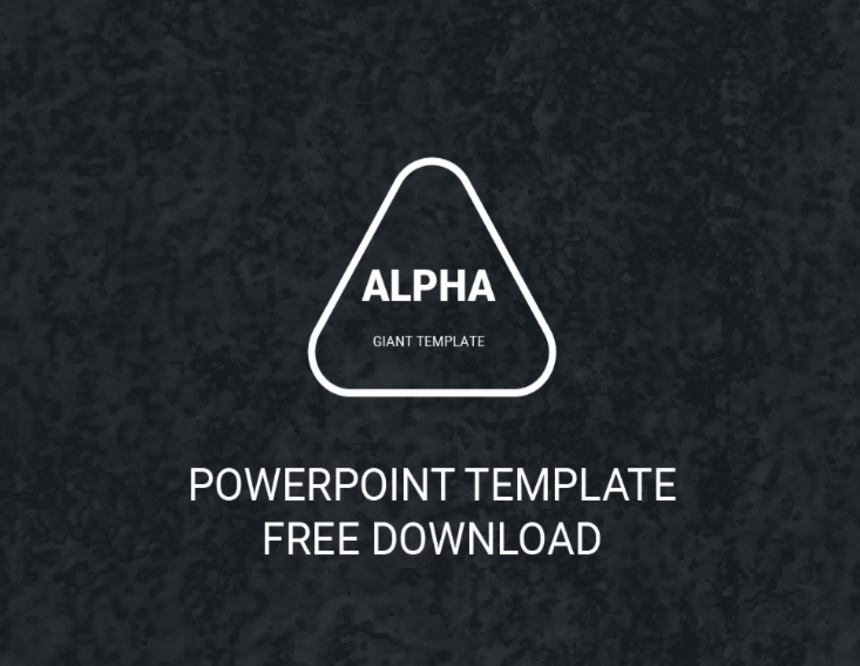 Alpha Free Powerpoint Template Pixel Surplus Resources For