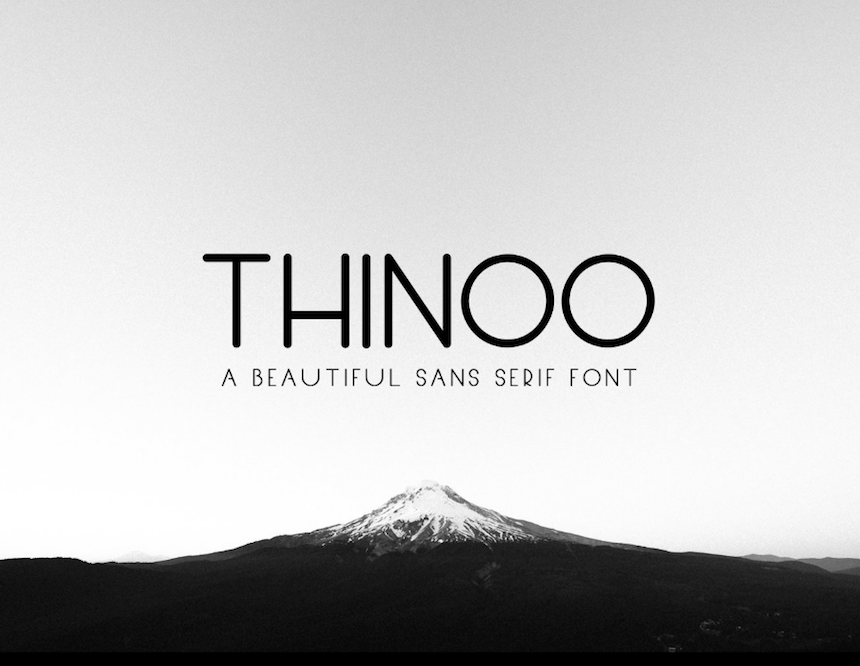 THINOO - FREE MODERN FONT — Pixel Surplus | Resources For