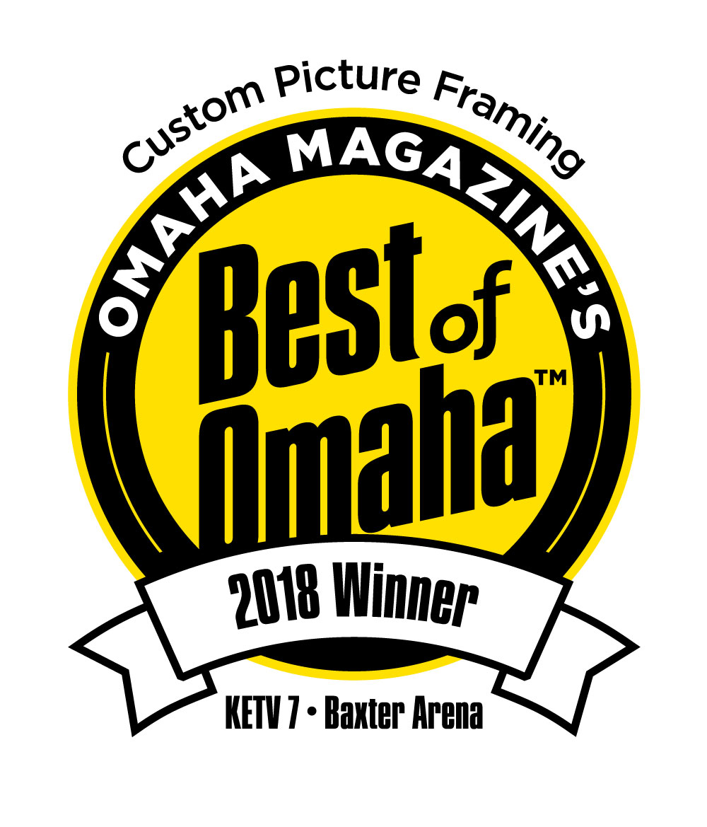 We are honored to be voted Omaha Magazine's Best of Omaha 2018 winner in the category of Custom Picture Framing! - Thank you, Omaha!  We are looking forward to another year of helping our customers create beautiful spaces and preserve treasured memories and art!