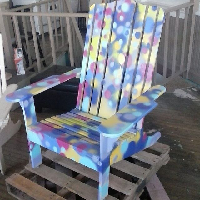 Prototype for #chairbomb by Pueblo artist Mat Taylor