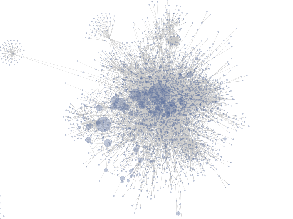 A social graph visualization