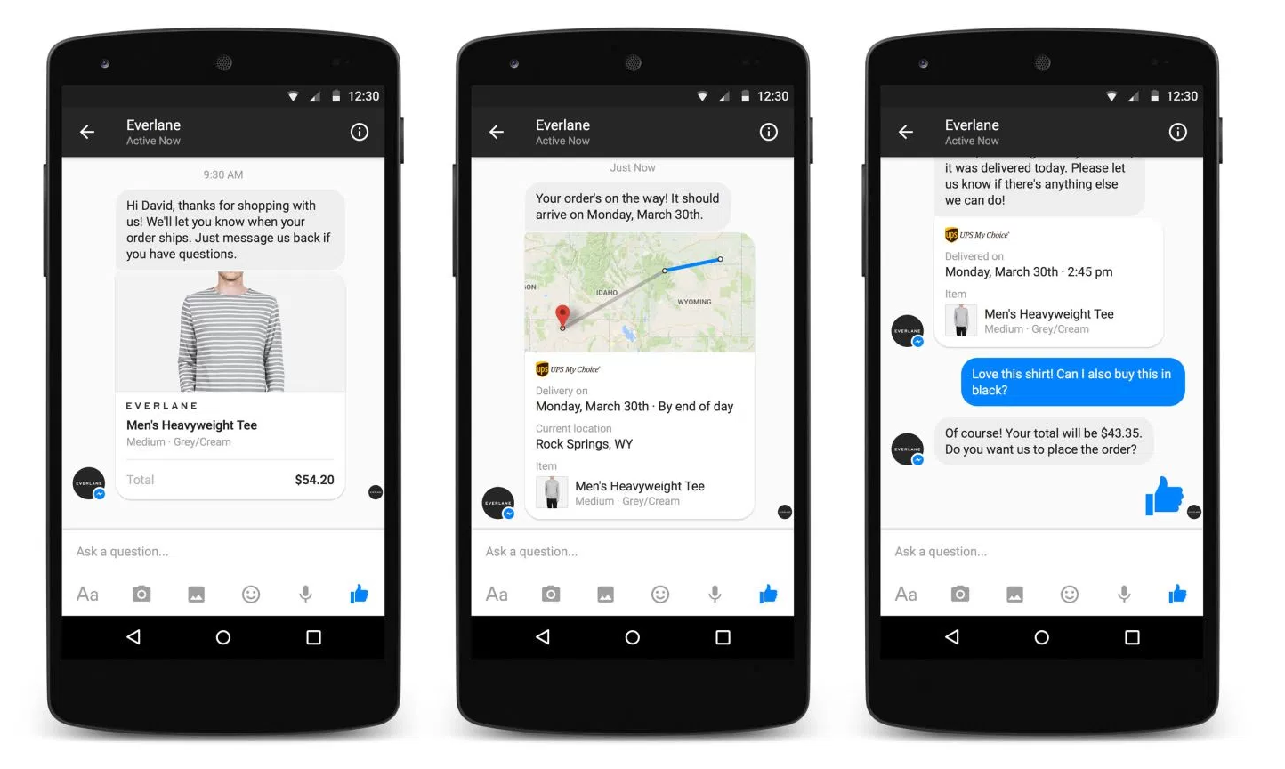 Everlane Facebook Messenger Bot