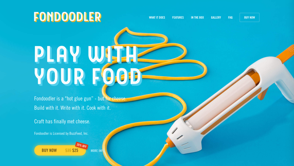 The Fondoodler website powered by Tilt.
