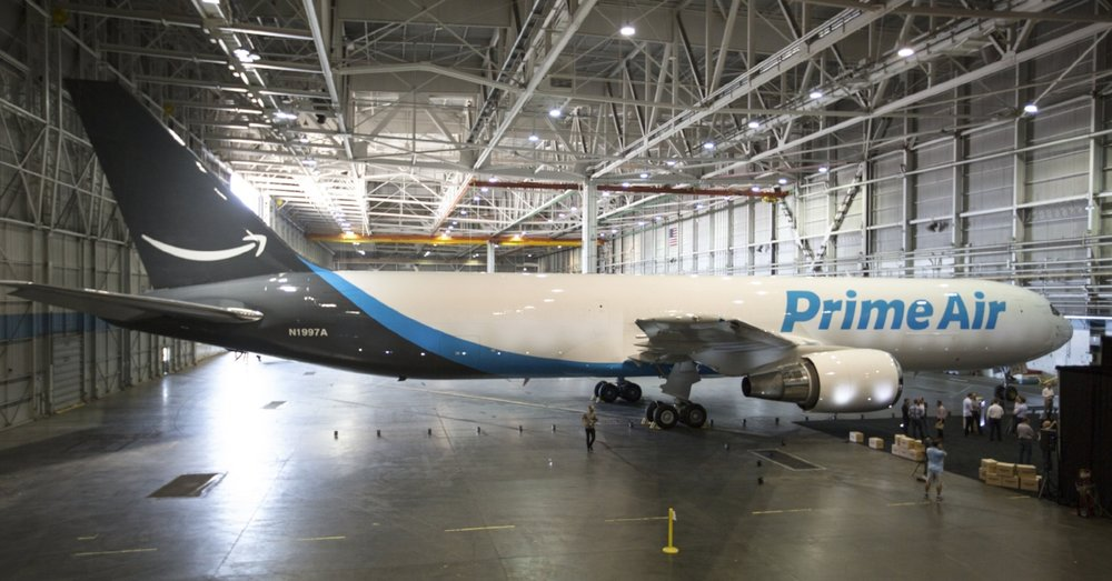One of Amazon's Prime Air planes.