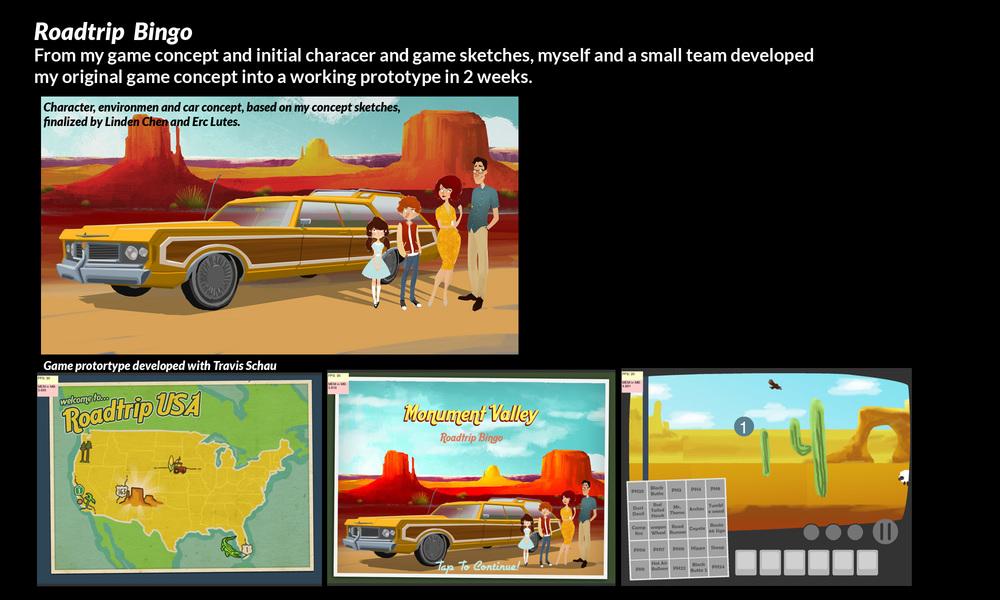 Game Concept: Roadtrip Bingo