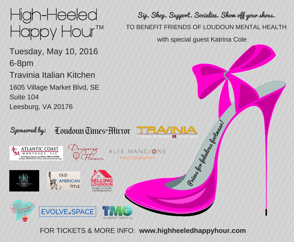 May 2016 High-Heeled Happy Hour Promo Ad