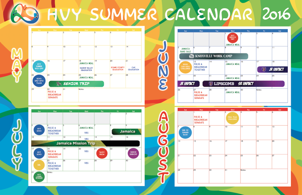 Click on the image above to download a summer calendar poster