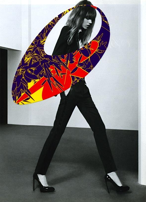 - La Femme (Hoop)Digital Drawing+Magazine Photo