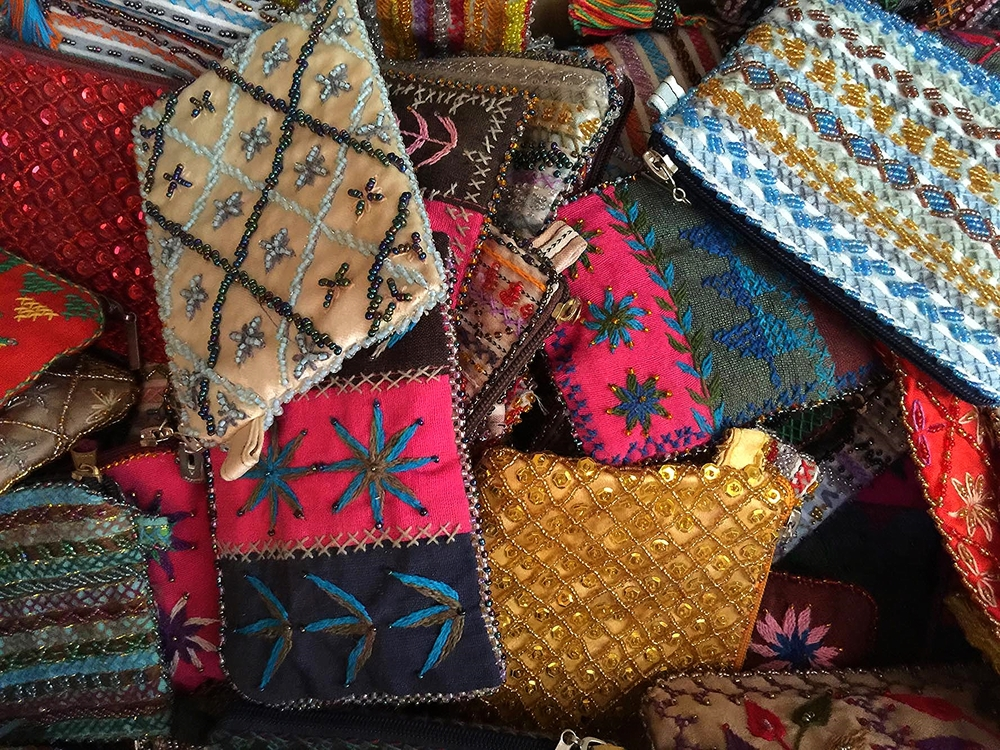 Bedouin beaded and embroidered purses