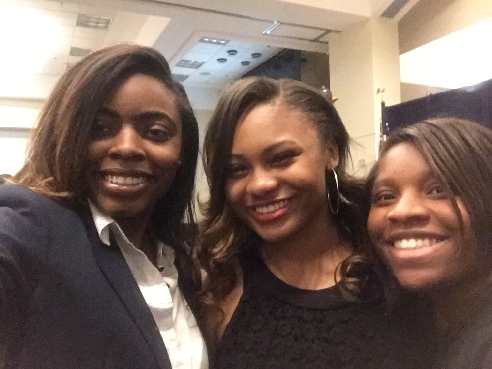 Dre (far right) pictured with other North Atlanta students