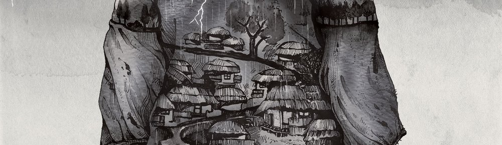 Detail from  The Underground Village  cover illustration (Copyright Dal Sang 2018)