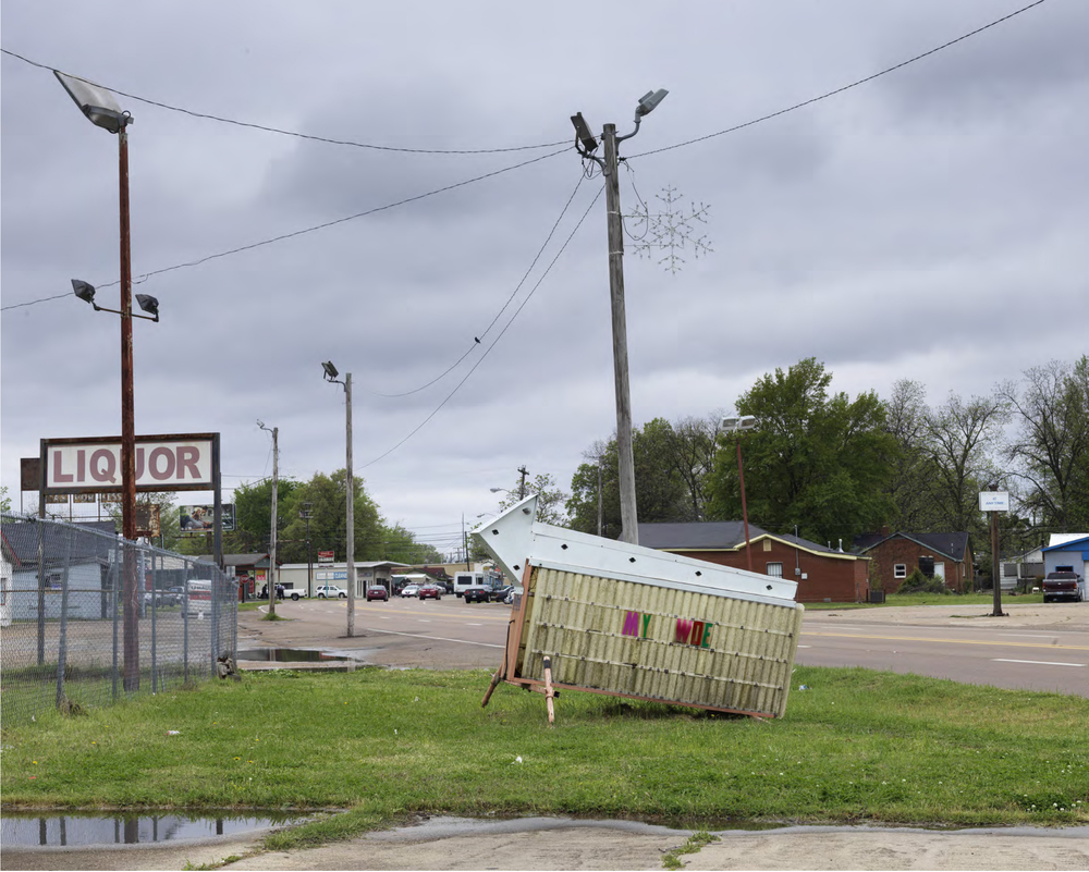 Alec Soth  Garfield & State, Clarksdale, MS,  2016
