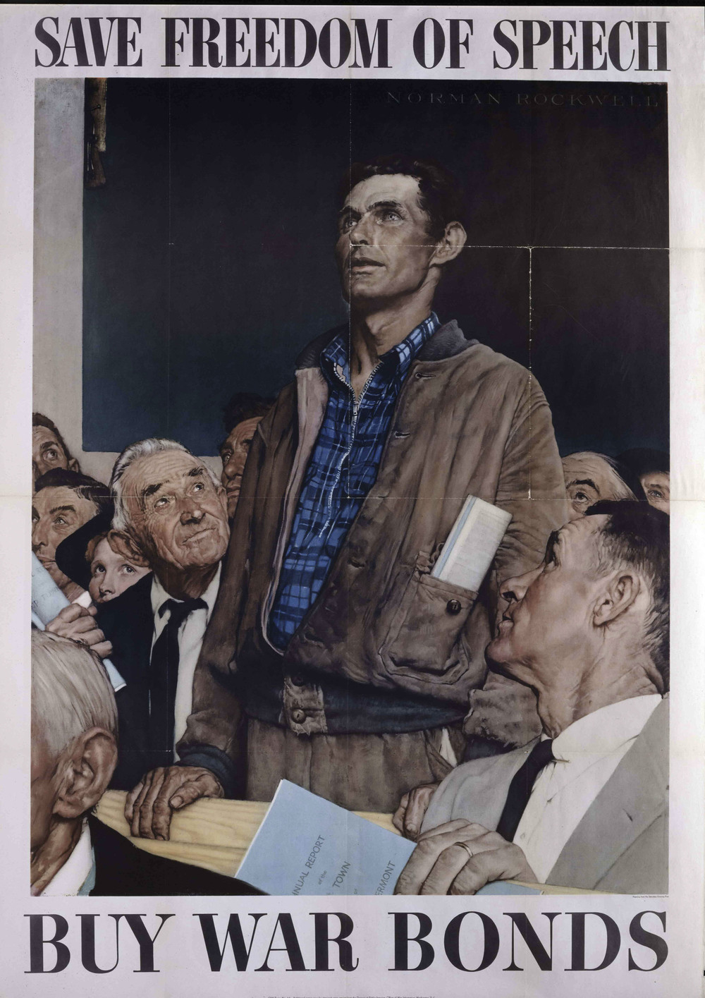 Norman Rockwell  Freedom of Speech,  1943