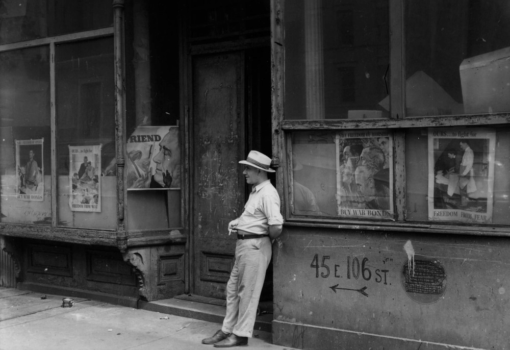 Todd Webb  Roosevelt Posters, 106th Street Near Madison Avenue, NYC, August 1946,  2016