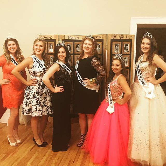 Some of the wonderful ladies who have been Peach Queens, both past and present!
