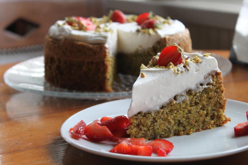 Italian Pistachio Cake - Pastry Chef Casey Stone - John Ash & Co.