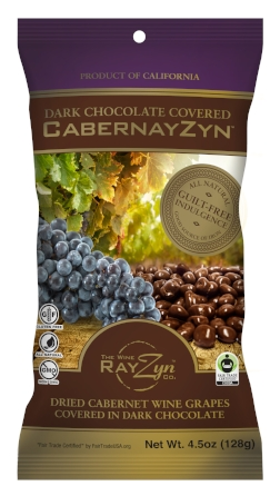 Dark Chocolate  RayZyns® in4.5 oz. Bags - Comes in display box of 8 units.