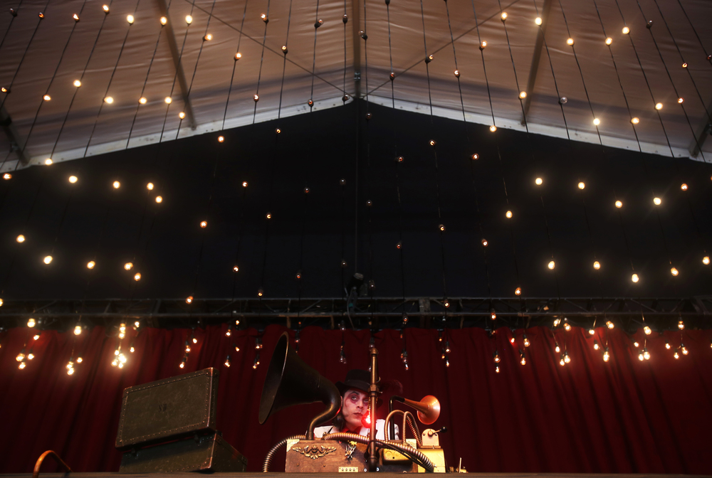 Vourteque performs in The Hangar, a new stage at Electric Forest on Thursday, June 25, 2015.  The festival at Double JJ Ranch in Rothbury Mich. continues through June 28.