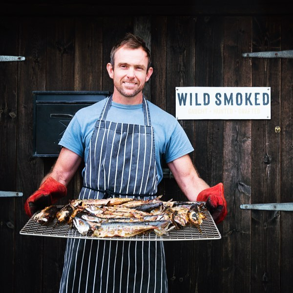 Loved photographing food smoker extraordinaire Ross @wild_smoked today for Olive mag. @rhiannon_batten #olivetravels #smokedfood#artisan #mackerel #smokedfish