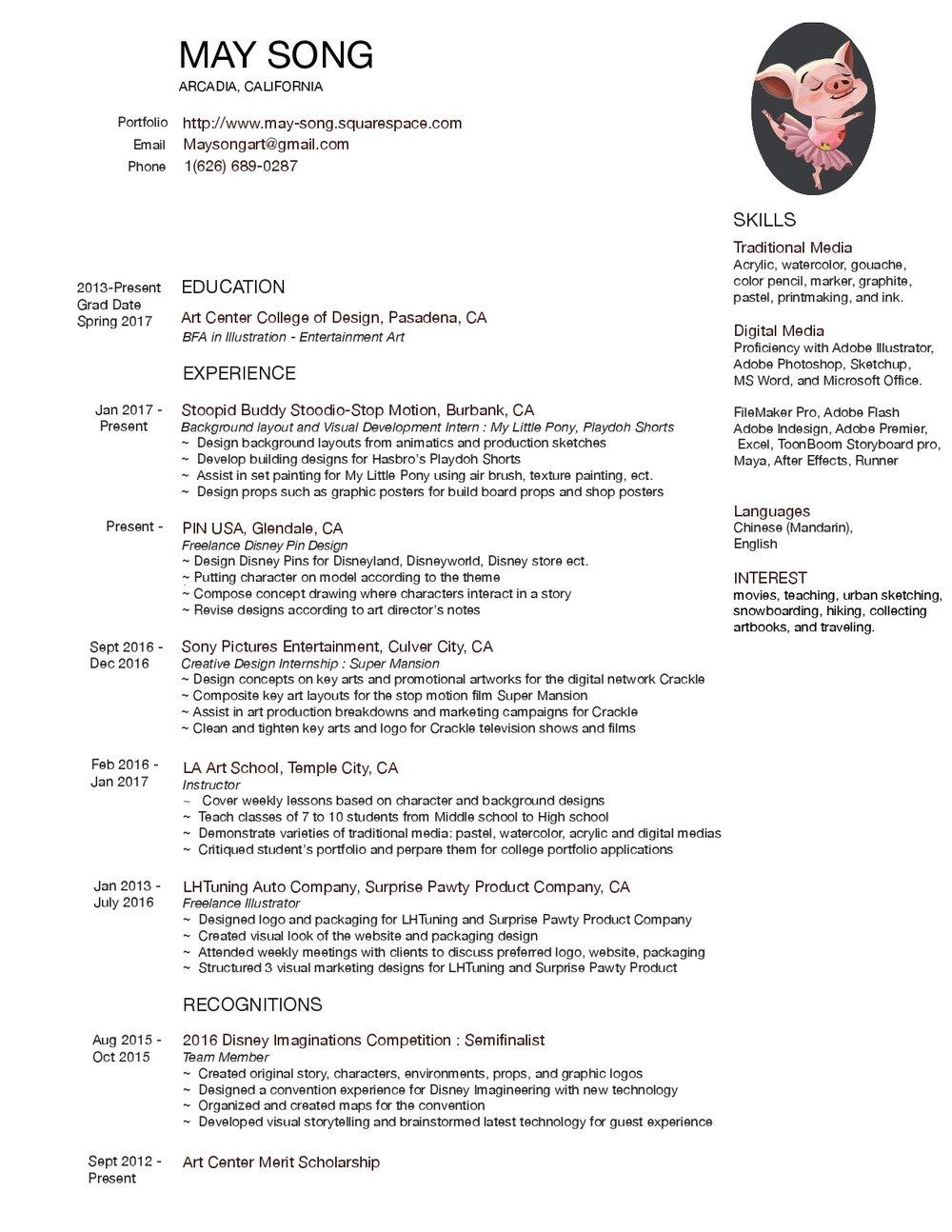 resume may song