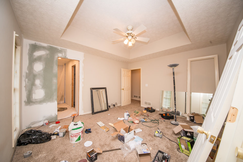I'm being real here. This is just what happens with construction. It's rough. It's dirty. It's a depressing mess like this one. But it's incentive to get the job done faster so you can FINALLY clean up!