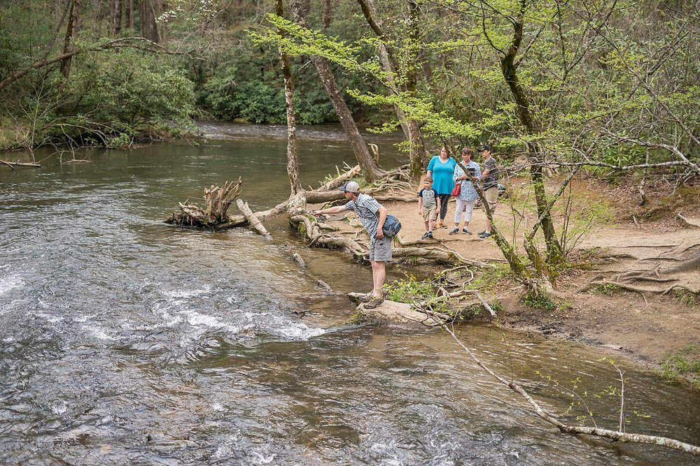 This was also still in Cade's Cove and we really wanted a shot with a fish. We put Charlie on the task of catching that fish and he gladly accepted to do so. Another fun fact: Charlie loves to fly fish. I loved watching the small crowd gather to watch him catch a fish.