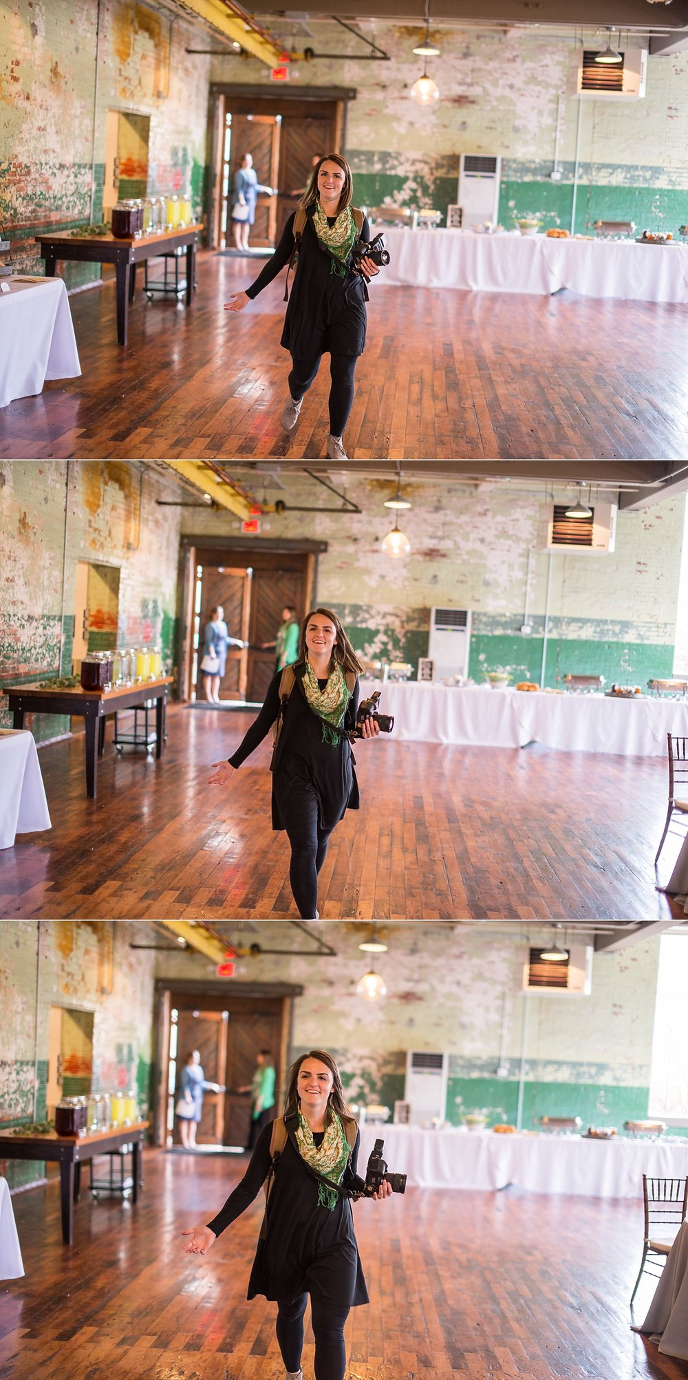 Waltzing into the reception like