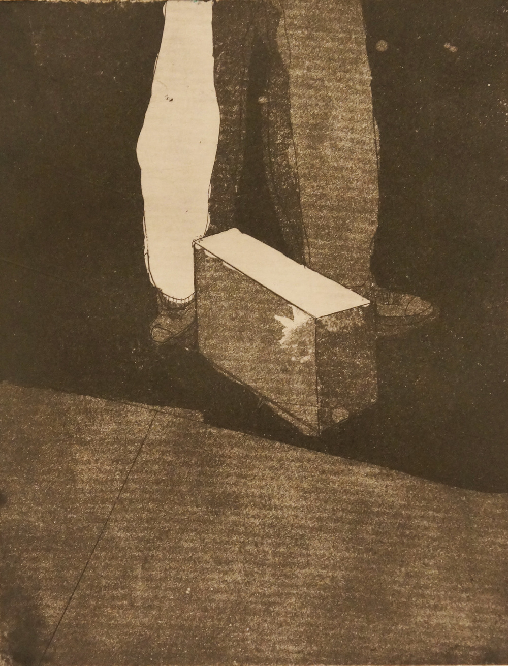 6 x 4.5 in  etching on paper