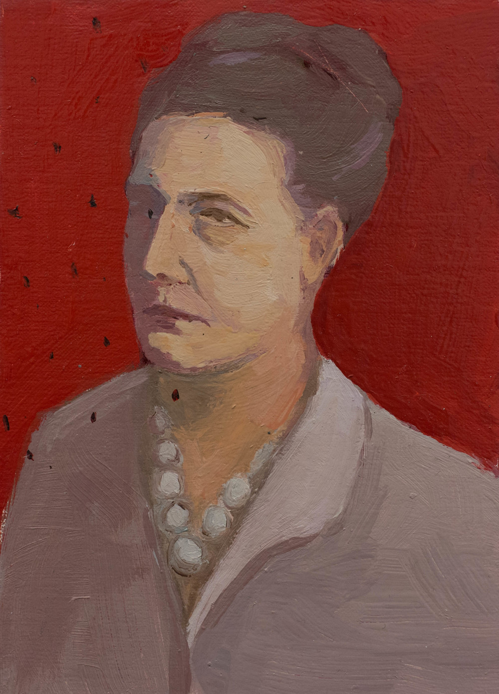 Portrait of Simon De Beauvoir  5 x 7 in  oil on panel