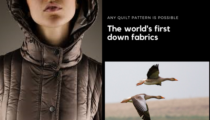 October 2017 The world's first down fabrics Any quilt pattern is possible READ MORE