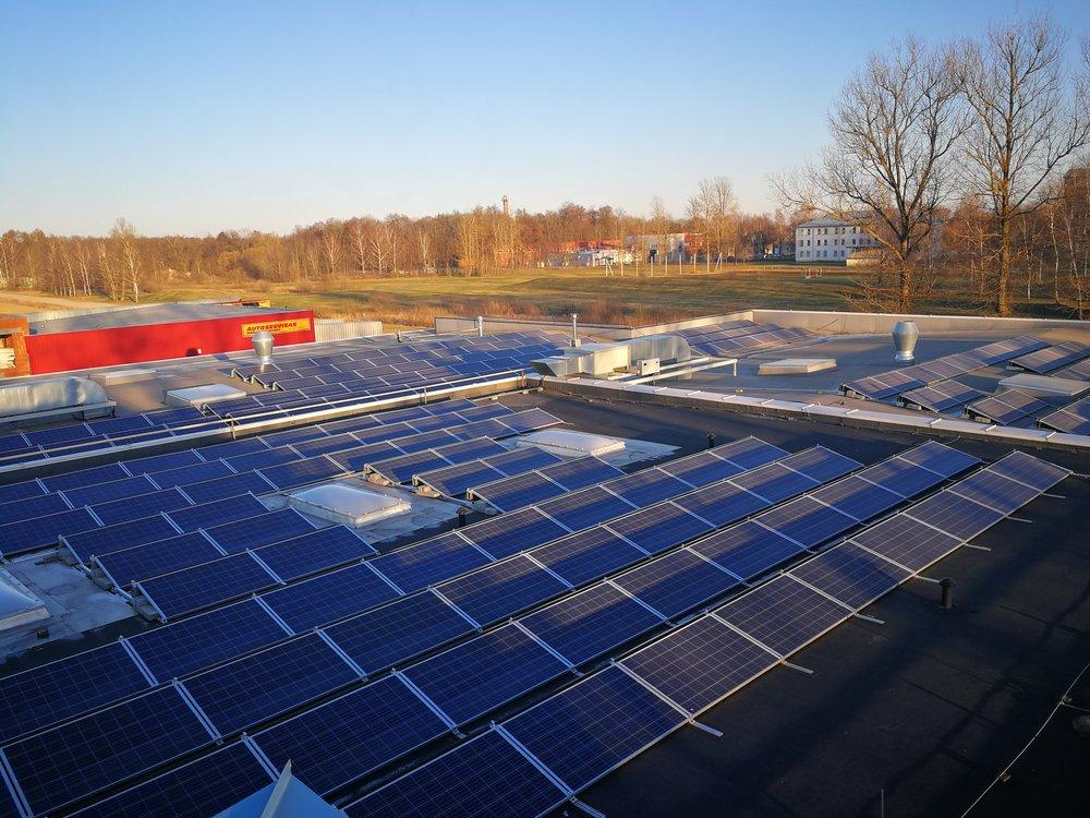 Solar panels in LTP TEXDAN