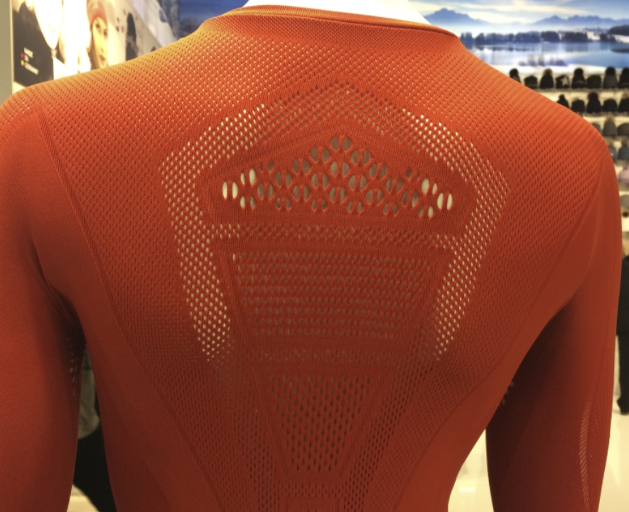 Cifra warp knit made with Evo by Fulgar at ISPO 2018 © Anne Prahl