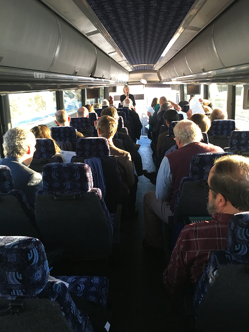 Full bus on the way to MAC Day in Helena.