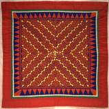 Blia Lee, Flower Cloth, appliqué and embroidery, 1991, MAM Collection, Donated by Susan Lindbergh Miller in honor of Montana's Hmong Community, 2011.