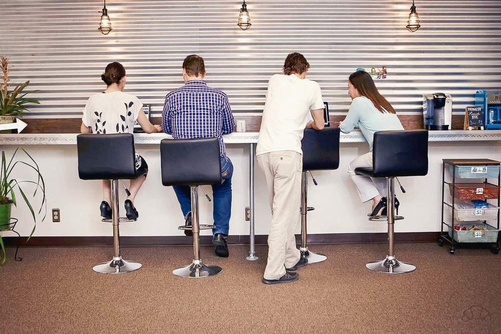 Grab a seat near these friendly folks at LAX Coworking!