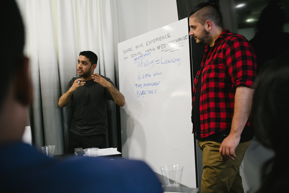 Getting our main takeaways from Green Creative Ayan and Phil. Photos courtesy of  I Heart NY