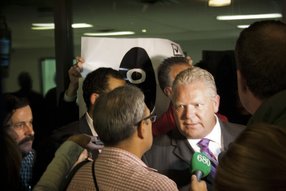 Doug Ford's handlers confused and annoyed (not uncommon).