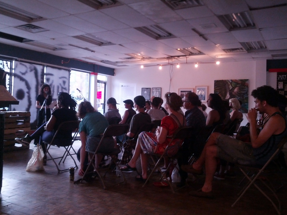 Margin of Eras Literary Cabaret (July 17, 2013) featuring 6 CUE-funded writers