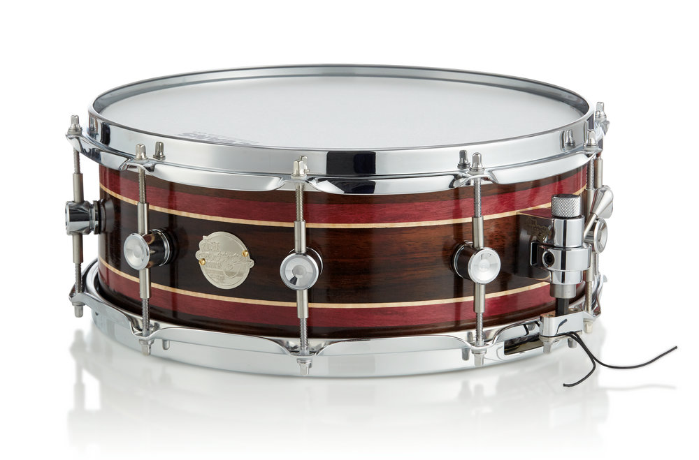 East Indian Rosewood steambent shell with Purpleheart and Maple inlays
