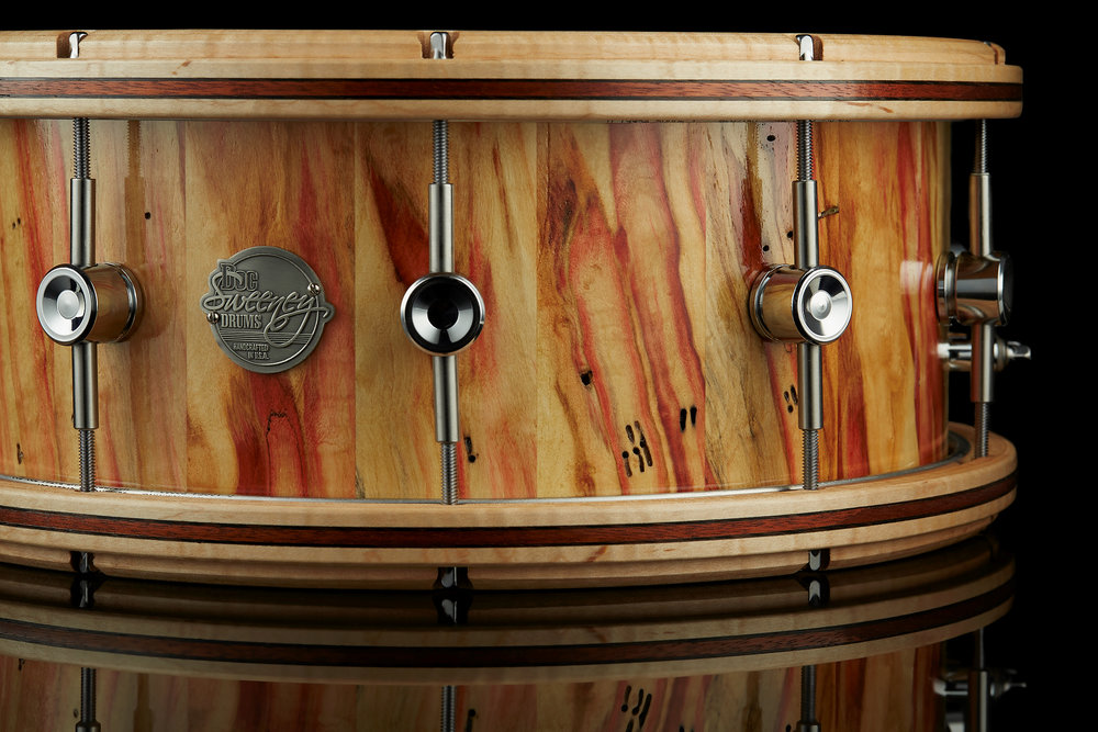 Inferno - Box Elder Maple, Maple hoops with Bloodwood and Wenge inlays