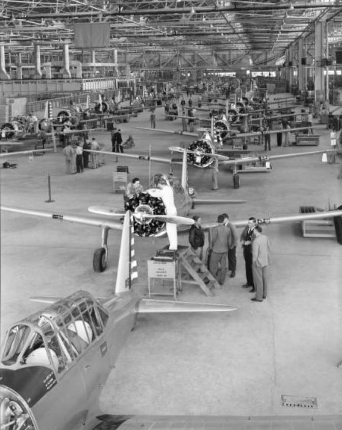 Vultee trainer's after assembly