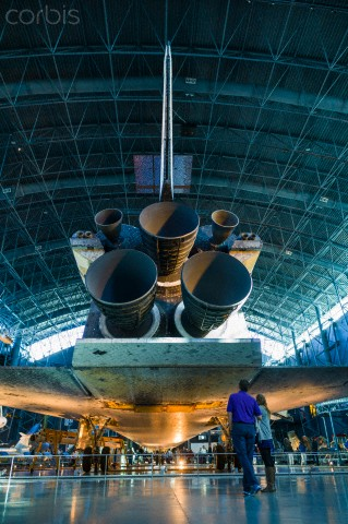 USA, Virginia, Herdon, National Air and Space Museum, Steven F. Udvar-Hazy Center, air museum, US NASA Space Shuttle, engine detail.jpg