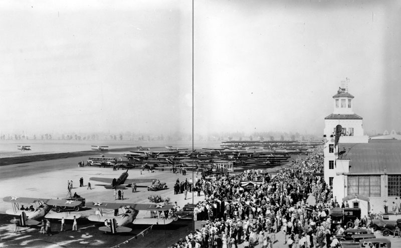 Dedication of the Los Angeles municipal airport