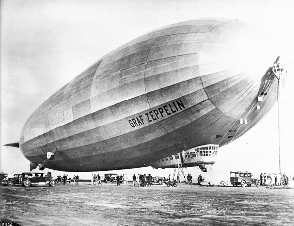 Graf Zeppelin docked at Mines Field