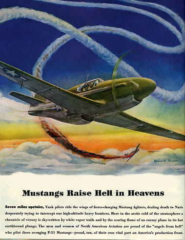 North American Aviation Inc ad WWII for P-51 Mustang