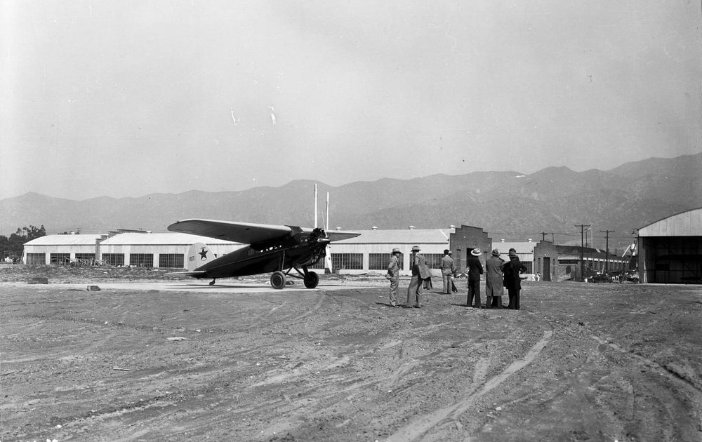 Lockheed Corporation plant in Burbank, January 27, 1929