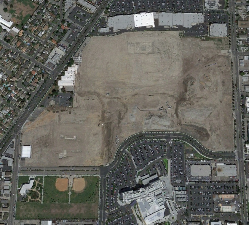 Downey Studios aerial view after demolition