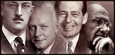Bill Boeing, Dutch Kindelberger, Donald Douglas and James McDonnell