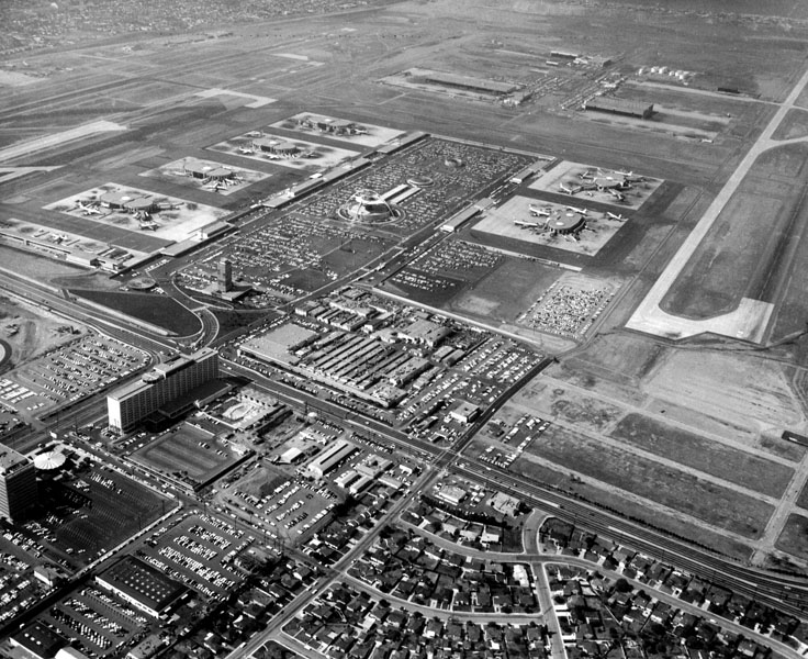 Aerial view of LAX and the Garrett Corporation