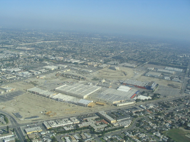 Aerial view of Downey Studios 2005